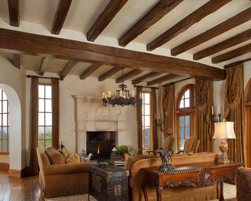 spanish living room design. Tuscan living room photo in San Francisco with beige walls Spanish Living Room  Houzz