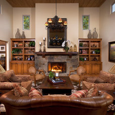 Traditional Living Room by Cindy Smetana Interiors