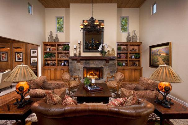 Traditional Living Room by Cindy Smetana Interiors