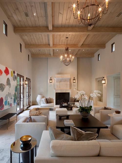 salon avec un sol en travertin photos et id es d co de salons. Black Bedroom Furniture Sets. Home Design Ideas