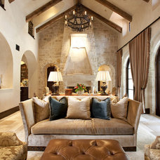 Mediterranean Living Room by Chandos Interiors