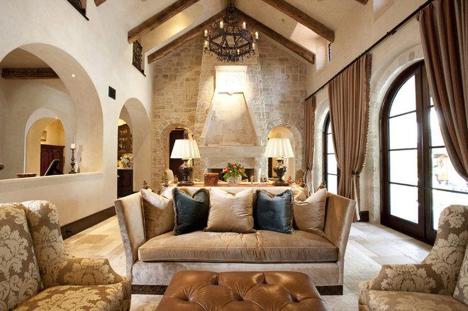 Mediterranean Living Room by Chandos Interiors