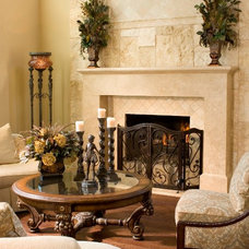 Mediterranean Fireplace Accessories by D'Hierro Hand Forged Iron