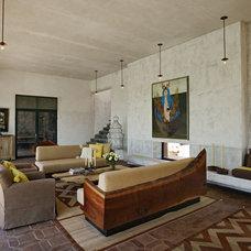 Mediterranean Living Room by David Howell Design