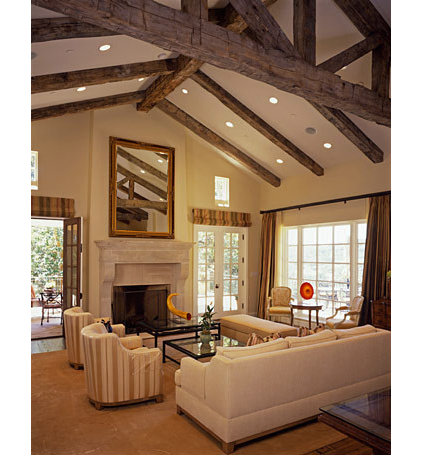 mediterranean living room by JMA (Jim Murphy and Associates)