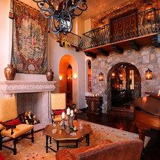 Mediterranean Living Room by Matt Dougan Design