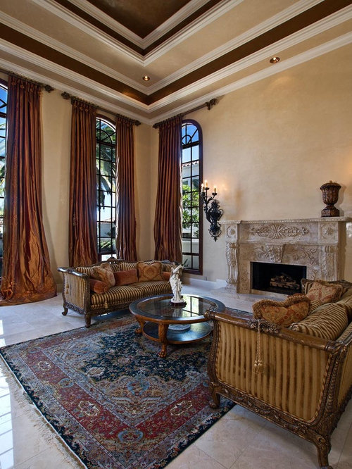 Tuscan Living Room Photo In Orange County