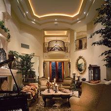 Mediterranean Living Room by Perla Lichi Design