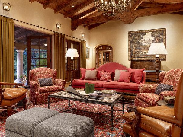 Rustic Living Room Mediterranean Living Room