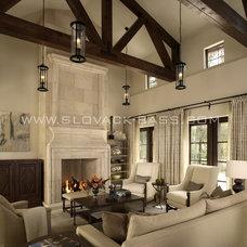 Mediterranean Living Room by Slovack-Bass