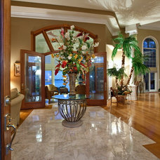 Mediterranean Living Room by SRQ360 Photography