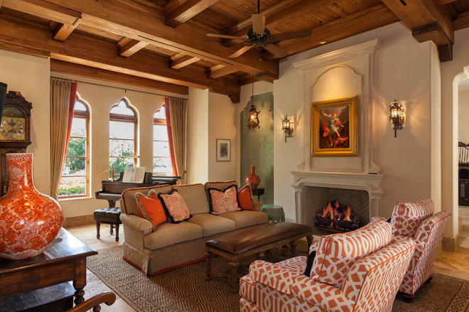 Mediterranean Living Room by Village Architects AIA, Inc.