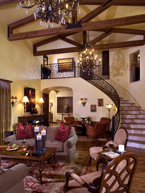 Mediterranean Living Room Home Design Ideas, Pictures