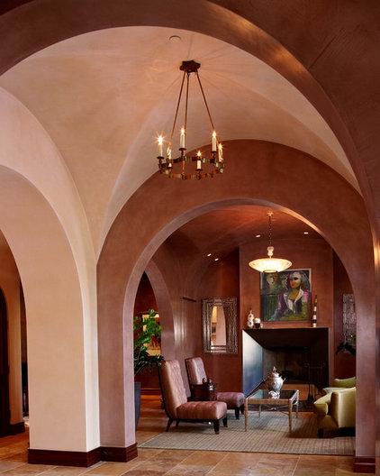 Mediterranean Living Room by Polsky Perlstein Architects