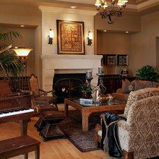 Mediterranean Living Room by Curt Hofer & Associates