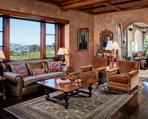 Mediterranean living room design ideas remodels photos houzz for Mediterranean living room design ideas