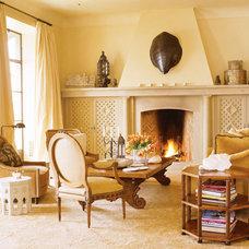 Mediterranean Family Room by Stephen Shubel, Inc