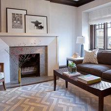 Contemporary Living Room by Meghan Carter Design Inc