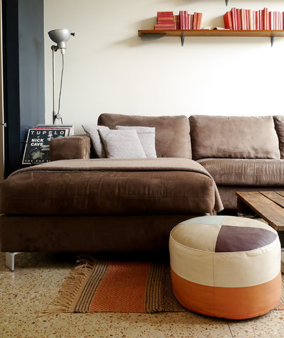 Industrial Living Room by Kate Hansen Photography