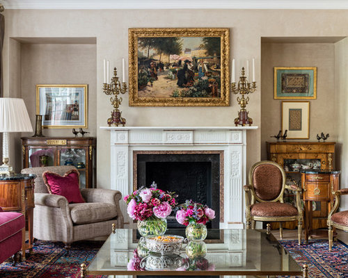 Inspiration For A Victorian Formal Enclosed Living Room In London With  Beige Walls, Carpet,