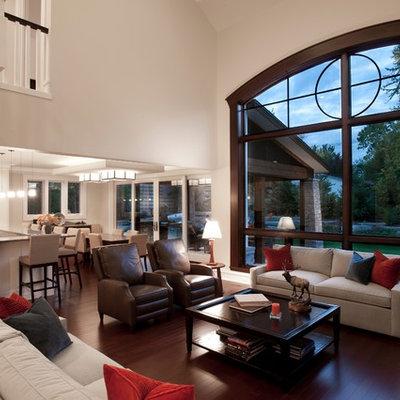 Trendy living room photo in Miami