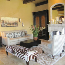 Transitional Living Room by Custom Homes of Texas