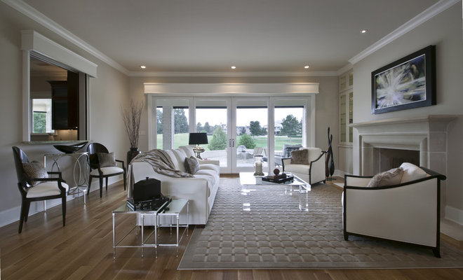 Contemporary Living Room by Laura Burton Interiors