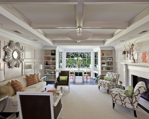 Odd shaped living rooms houzz for C shaped living room