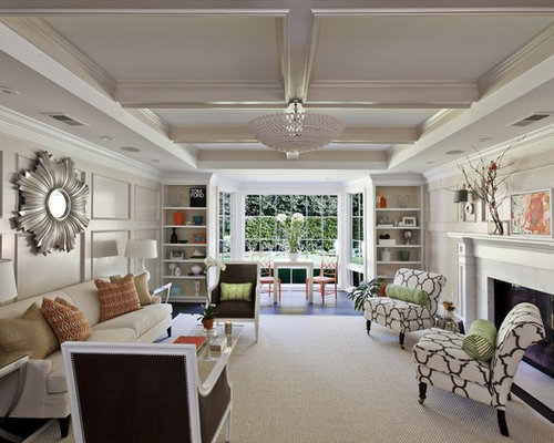 Rectangular living room houzz for C shaped living room