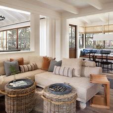 Farmhouse Living Room by Jennifer Robin Interiors