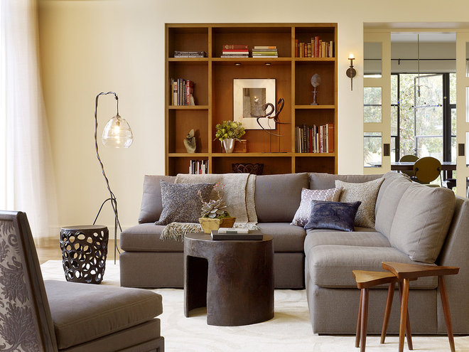 Transitional Living Room by Moroso Construction
