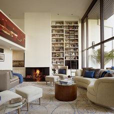 Contemporary Living Room by ScavulloDesign Interiors