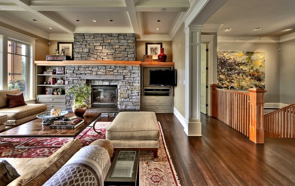 Traditional Living Room by Shuler Architecture
