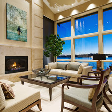 Contemporary Living Room by Lakeville Homes