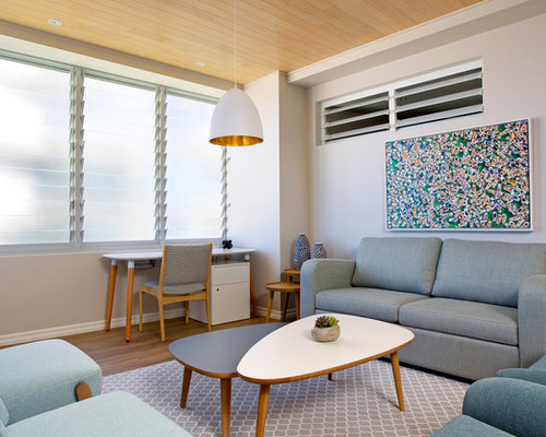 This Is An Example Of A Beach Style Living Room In Gold Coast   Tweed With