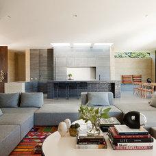Modern Living Room by Robson Rak Architects Pty Ltd