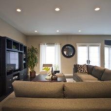 Contemporary Living Room by Jessica Risko Smith Interior Design