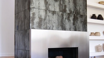 Metalwork: Stainless Steel Fireplace Surround