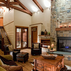 Rustic Living Room by The Interior Design Group