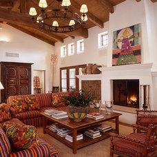 Southwestern Living Room by Ann James Interiors