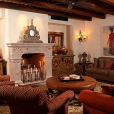 Mediterranean Living Room Mexican Hacienda at Cabo