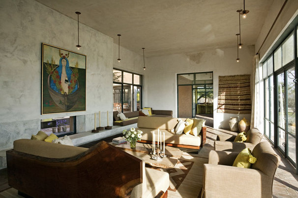 Mediterranean Living Room by David Howell Design