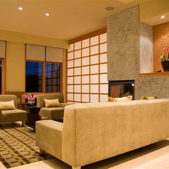 contemporary living room by Michael F. Malinowski AIA