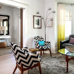 White Curtains White Walls Living Room Ideas & Photos | Houzz