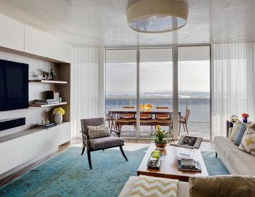 Miami Beach Highrise- Living Room