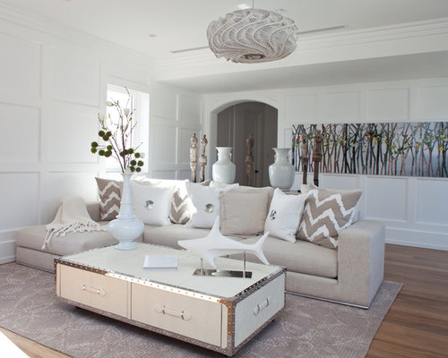White And Beige Living Room Ideas U0026 Photos | Houzz