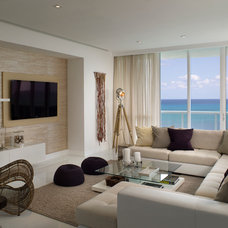 Beach Style Living Room by Associated Design Co