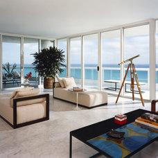 Contemporary Living Room by Thom Filicia Inc.