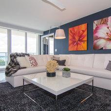Contemporary Living Room by GreenRose Enterprises