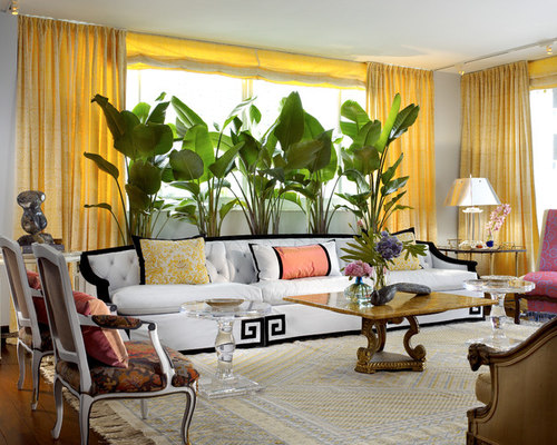 907 eclectic miami living room design ideas remodel for W living room miami